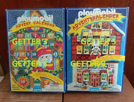 NEW Playmobil Advent Calendar 3976 and 3974 Santa Claus Christmas Year 1... - $180.00