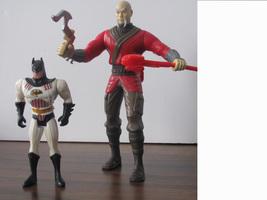 Ras Al Ghul vs. Batman. Two Action Figures. DC Comics with two weapons - $15.00