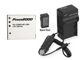 Battery +Charger for Casio EX-S200PK EXS200PK EX-S200SR - $26.90