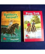 book lot pony trek battlecry forever pony books - $4.00