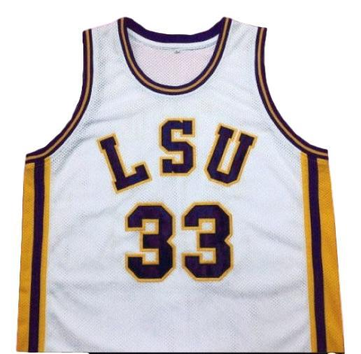 Shaquille o neal college basketball jersey white   1