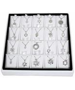 SNSArts & Judaica Beautiful Full Display- 20 Assorted Pendants with Chai... - $868.31
