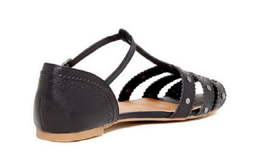 Dv By Dolce Vita Womens Zina Stella Manmade Leather Sandal Black Size 6  US
