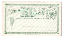 Dominican Republic HG1 Postal Stationery Card 2c Green 1881 Unused - $4.99