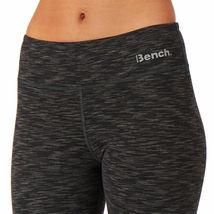 Bench Women's Jet Black Heathered Marl Baddah Leggings Fitness Yoga Pants NWT image 3