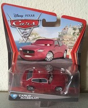 Disney Pixar CARS 2 #25 CARLO MASERATI diecast toy car NIP HTF - $6.00