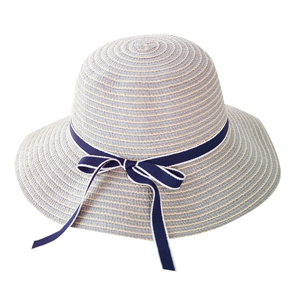 Primary image for Women Summer Wide Brim Straw Hat Ladies Floppy Derby Beach Sun Foldable Cap Lot