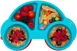 Qshare Silicone Divided Baby Plate With Suction, Non Slip Child Feeding ... - $17.33