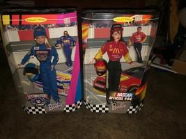 Lot of 2 Barbie Dolls 1999 Nascar Official #94 & 50th Anniversary Nascar Barbie  - $40.58