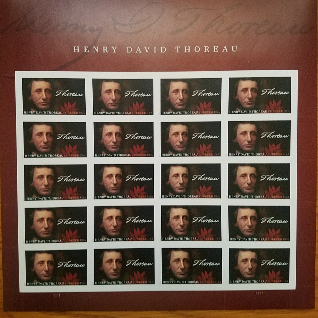 Primary image for HENRY DAVID THOREAU (USPS) STAMP SHEET 20 FOREVER STAMPS