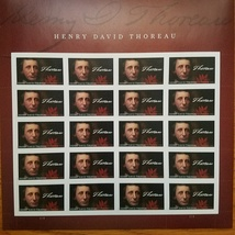 HENRY DAVID THOREAU (USPS) STAMP SHEET 20 FOREVER STAMPS - $14.95