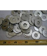 Flat Washers .835/.850 x .315/.352 x .062 Steel Zinc Plated LOT of - 100... - $23.85