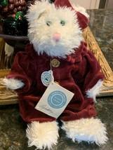 BOYDS BEAR LINDSEY P. PUSSYTOES CAT KITTY VELVET DRESS TEDDY JOINTED  NE... - $20.59