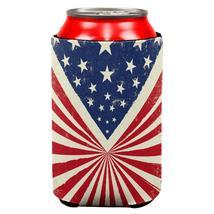 4th of July Star Burst American Flag All Over Can Cooler - $7.95