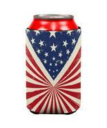 4th of July Star Burst American Flag All Over Can Cooler - $10.55 CAD