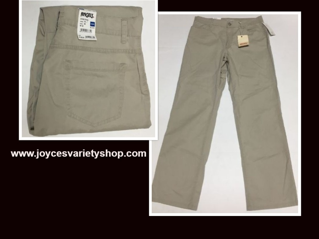 "Angels Jeans Italy Vicky Beige Waist 32"" Inseam 30"" Regular NWT"