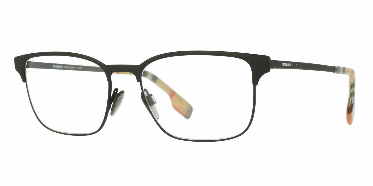 Primary image for NEW BURBERRY BE 1332 1283 BLACK RUBBER AUTHENTIC EYEGLASSES FRAMES 54-17-145