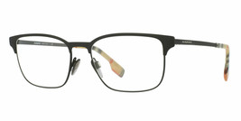 NEW BURBERRY BE 1332 1283 BLACK RUBBER AUTHENTIC EYEGLASSES FRAMES 54-17... - $265.00
