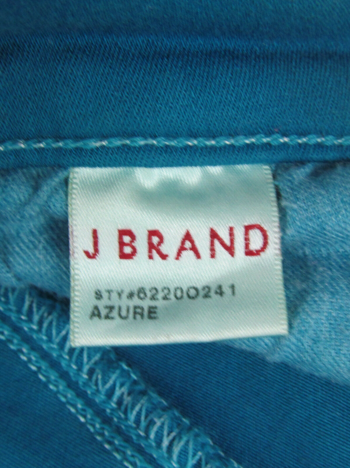 J Brand jeans Azure Ankle Skinny Zipper cuffs USA Made Teal Womens Size 25 image 6