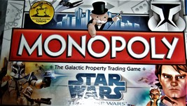 Monopoly  - Star Wars The Clone Wars Monopoly - Board Game (Complete) - $10.95