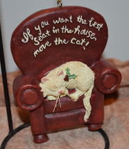 Cat in the best seat in the house Christmas ornament - $8.42