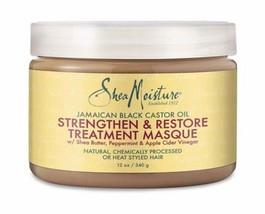 Shea Moisture JAMAICAN BLACK CASTOR OIL STRENGTHEN & RESTORE MASQUE, 12 oz - $17.82
