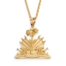 Haiti Pendant and Necklace for Women/Girls Ayiti Items Gold - $19.99