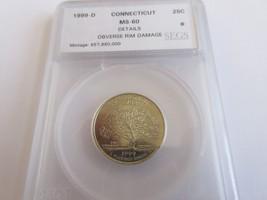 1999-D , Washington Quarter , Connecticut , UC  - $9.90