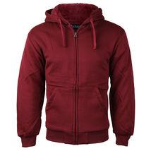Men's Premium Athletic Soft Sherpa Lined Fleece Zip Up Hoodie Sweater Jacket image 4