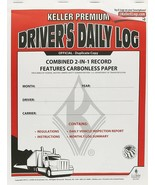 J.J. Keller 8530 2-in-1 Driver's Daily Log Book with Detailed DVIR - $6.69