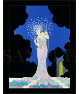 8.5x11 Vintage Erte Fine Art Deco Color Print Picture Poster Women Old Nouveau - $12.16