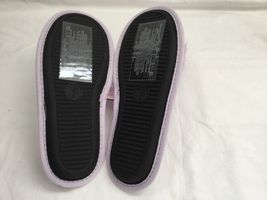 Victoria's Secret  Womens Dreamy Lavendar Pom Pom Velvet Slippers Size M(7-8) image 3