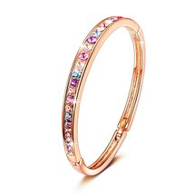 Bella Woman Bracelet Valentines Day Gifts for Women Rose Gold Plated Bangle Fash - $49.95