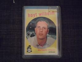 1959 Topps Baseball Card #349 Hoyt Wilhelm - $4.00