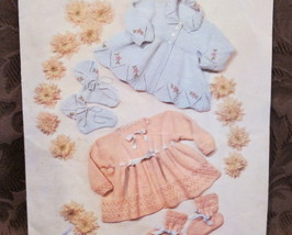 Vintage Lavenda Wool BABY Knitting Patterns Baby MATINEE COAT and BOOTEE... - $6.95