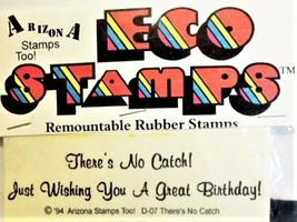 Eco Stamps Birthday Sentiment Unmounted Rubber Stamp #D-07