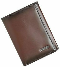 New Nautica Men's Premium Leather Credit Card Id Wallet Trifold Brown 31NU11X017 image 2
