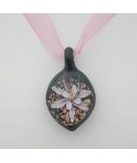 Pendant Floral Art Glass  - $18.75