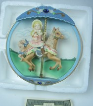 Bradford Exchange Carousel Daydreams Animated 3D Collector Plate Hold on... - $23.36