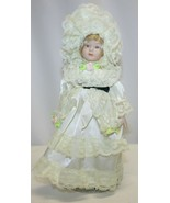 """Vintage 8-1/4"""" Porcelain Doll Blonde Hair Great Condition - $19.79"""