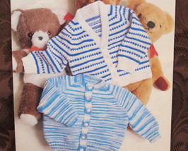 Patons BABY Knitting Patterns Baby KNITTED Cardigan SWEATERS Chest 18 - ... - $4.95