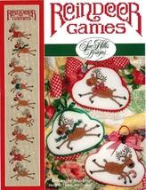 Reindeer Games christmas cross stitch chart Sue Hillis Designs - $10.80