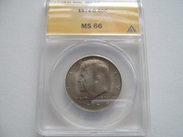 Kennedy Half Dollar , 1974-D , MS 66 , ANACS Certified - $75.00