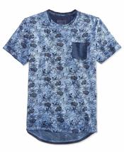 American Rag Cie Men's Blue Floral Print Graphic Tee Shirt, Size XL - $19.79