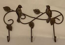 Metal Bird coat & Hat Hooks Wall Hanging - $13.85