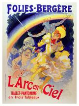 El Arc en Ciel Folies Vintage POSTER.Graphic Design.Wall Art Decoration.... - $10.89+