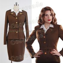 Captain America Agent Margaret/Peggy Carter Dress Cosplay Costume Unifor... - $91.99+