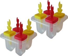 Ice Pop Tray Popsicle Mold Set Bundle of 2 BPA Free Frozen Treat Tray 2 ... - $12.38 CAD