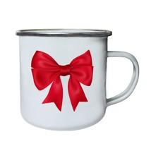 Decorative red bow Novelty Funny Retro,Tin, Enamel 10oz Mug mm72e - $13.13