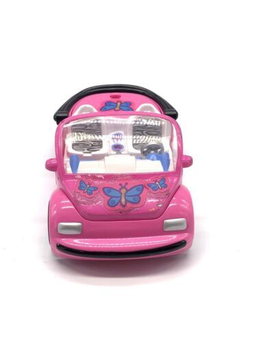Primary image for Polly Pocket Pink VW Bug Car 2000 Mattel